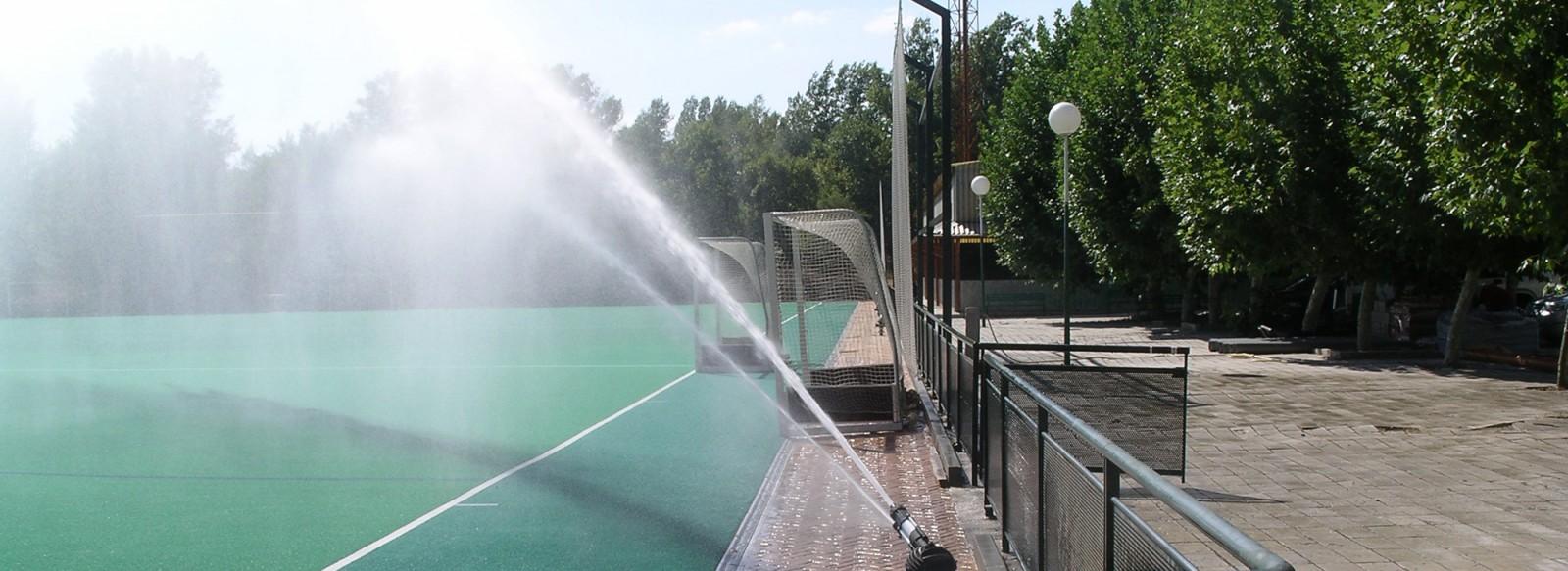 instalación riegos campos hockey