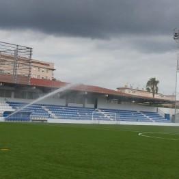 proyectos riego por aspersion campos fútbol