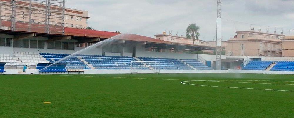 proyectos riegos campos fútbol