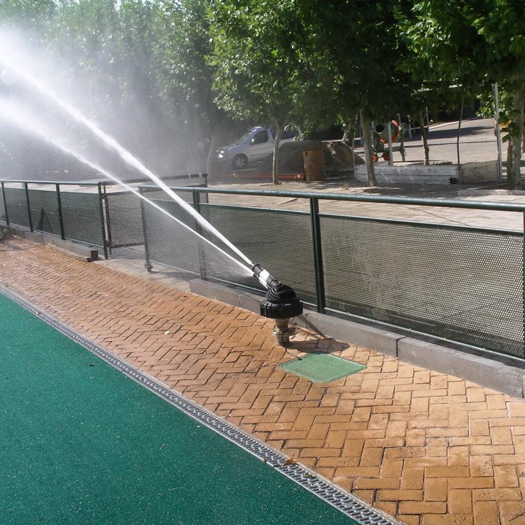 cañones riego campos de golf, fútbol