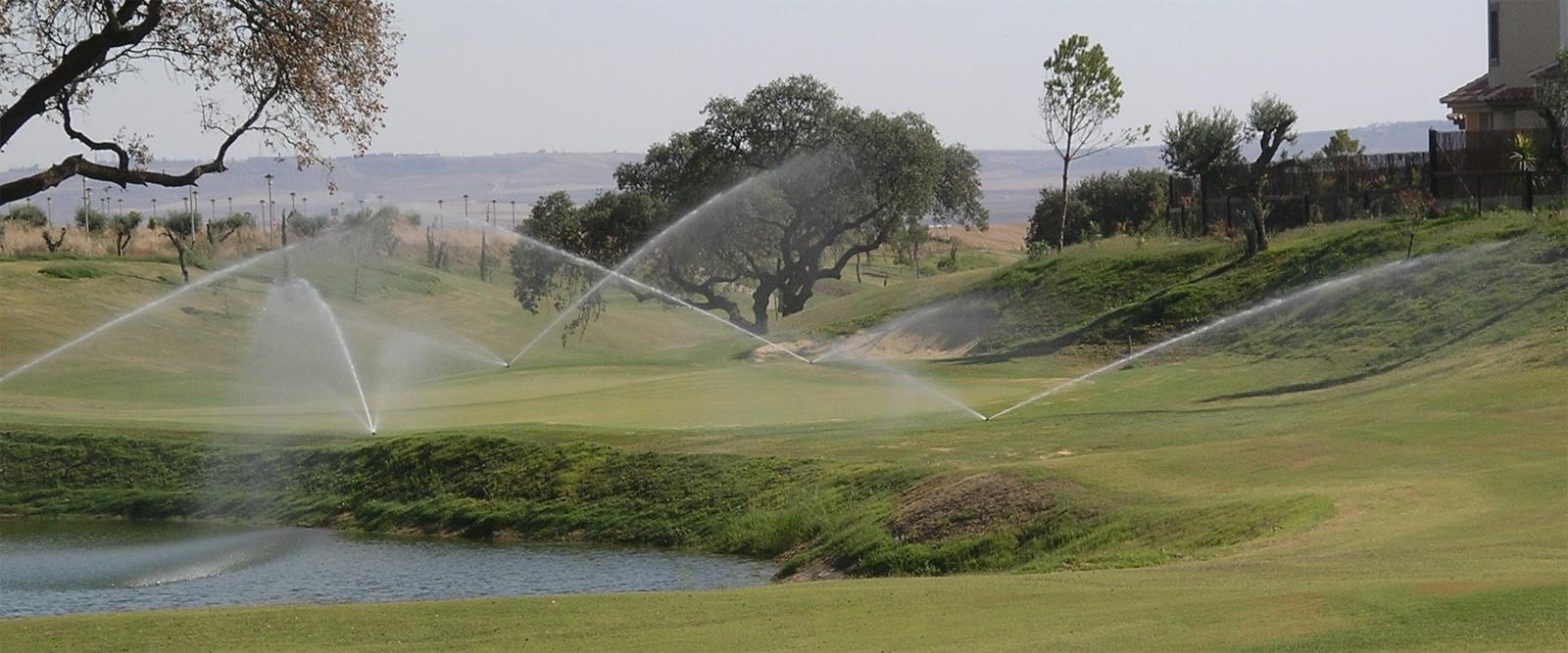 instalación riegos campos de golf